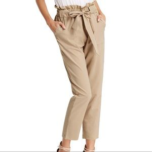 Khaki Paper Bag Pants